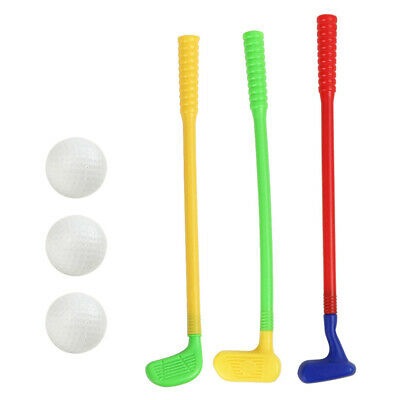 Children Plastic Golf Toys Mini Golf Game Sports Golf Clubs Set Indoor Outdoor • 6.69£