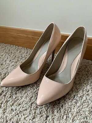 Womens Missguided Nude Coloured High Heeled Court Shoes Size 7 • 14.99£
