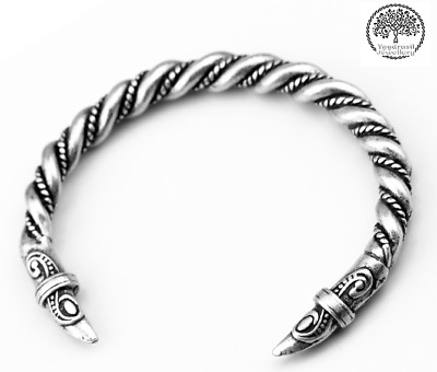 Viking Metal Silver Dragon Raven Head Wolf Thor Odin Norse Cuff Bracelet Bangle • 7.95£