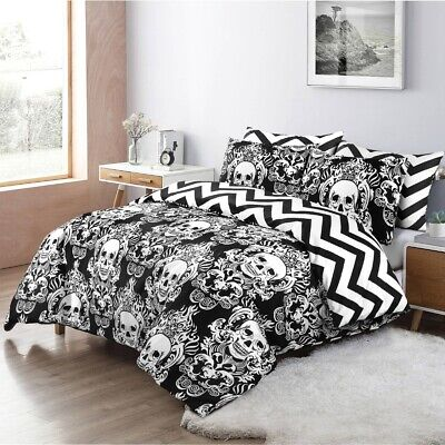 Animal Gothic Skull Duvet Cover Set Quilt Covers Double King Size Bedding Sets • 14.99£