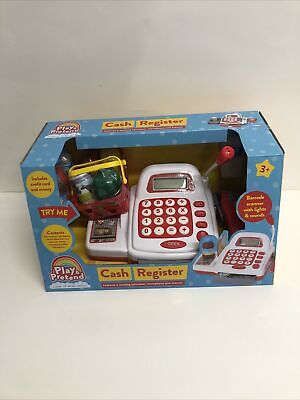 £14.99 • Buy Play & Pretend Cash Register Till Food Mic Barcode Scanner With Lights & Sounds