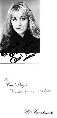 CAROL ROYLE HAND SIGNED PHOTO CROSSROADS HEARTBEAT BILL BLAKES 7 GRANGE Message • 12£