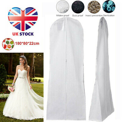 Extra Large Wedding Dress Bridal Gown Garment Breathable Cover Storage Bag White • 4.99£