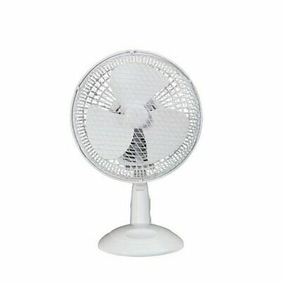 Simple Value White 2 Speed Adjustable Tilt Oscillating Desk Fan - 7 Inch • 12.99£
