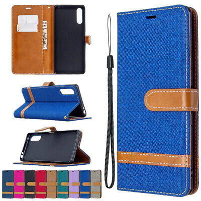 AU7.99 • Buy Case For Sony Xperia L4 L2 10 XA1 XA2 Cover Denim Leather Card Wallet Flip Stand