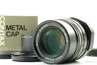 $ CDN499.91 • Buy 【Top Mint】 Contax Carl Zeiss Sonnar T* 90mm F/2.8 Black G1 G2 Lens From Japan