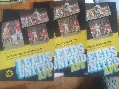 3 Leeds United Programmes 1977/8 V Newcastle, Leicester And Wolves  • 0.99£