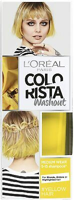L'oreal Colorista Washout Semi-permanent Hair Colour Yellow Neon 018 80ml • 4.15£