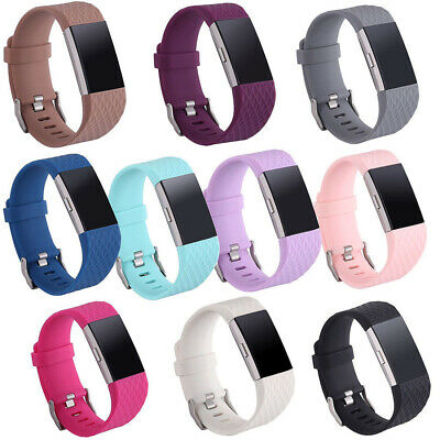 AU3.29 • Buy 3D Replacement Strap Wrist Band Silicone Bracelet Watchband For Fitbit Charge 2