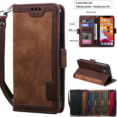 AU13.99 • Buy For IPhone 12 11 Pro Max X/XS XR 8/7/SE Case Leather Wallet Card Slot Flip Cover