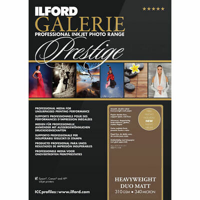 ILFORD GALERIE Prestige Duo Matt 8.5 X 11  Inkjet Photo Paper 50 Sheets 2003178 • 28.94£