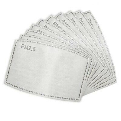 $ CDN5.75 • Buy 10 Replacement Fabric Face Mask Filter PM2.5 Insert Activated Carbon 5 Layer