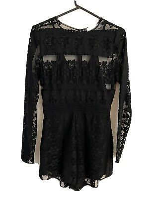 AU85 • Buy Alice McCall All Good Things Black Lace Playsuit - Size 8