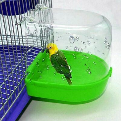 1Pc Plastic Bird Water Bath Box Bathtub Tub For Pet Cage Hanging Bowl Parrots  • 9.75£