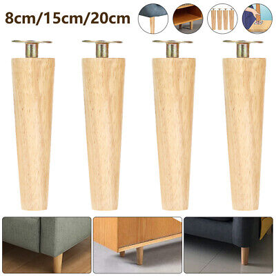 AU20.33 • Buy 4PCS 8/15/20CM Wooden Furniture Sofa Couch Wood Legs Cabinet Replacement 🔨
