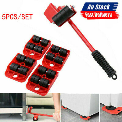AU17.35 • Buy Heavy Furniture Roller Set Shifter Lifter Wheels Mover Easy Moving Slider Tool