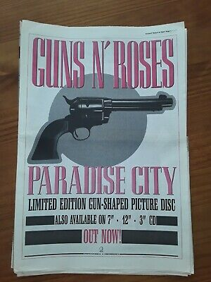 Guns N Roses Paradise City Single, 1 Page Sounds Advert March 25th 1989 12 X17  • 8£
