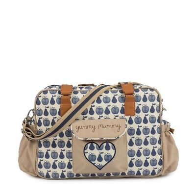 Pink Lining Yummy Mummy Changing Bag Navy Apple & Pears • 52£