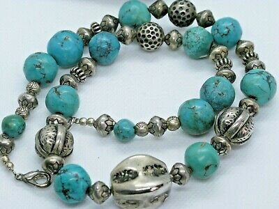Vintage Native American Turquoise Necklace • 4.50£