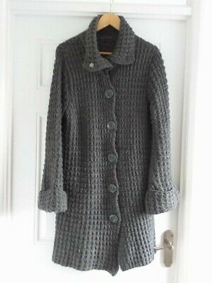 Ladys M&s-limited Collection Grey Cardigan-size 14-long • 4.20£