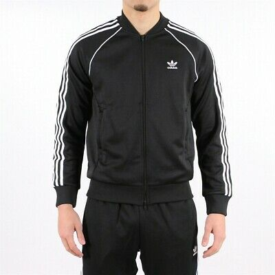 $ CDN41.32 • Buy New Adidas Mens SST Black 3-Stripes Soccer Football Full Zip Track Jacket 2XL