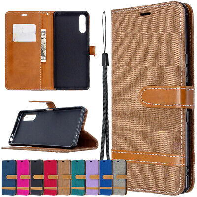 AU7.99 • Buy Leather Stand Wallet Flip Case Cover For Sony Xperia 10 L4 L2 XZ1 XA1 XA2 Ultra