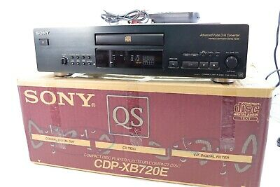 SONY CDP-XB720E QS RANGE Audiophile Stereo CD Player - BOXED ** SERVICED ** • 229£