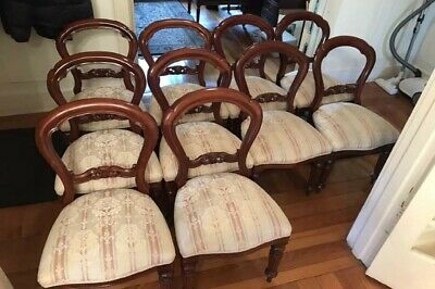AU100 • Buy Mahogany Victorian Dining Chairs Set Of 10