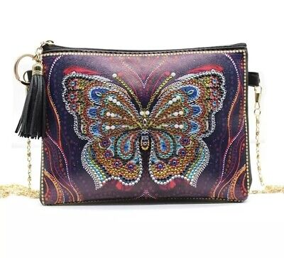 AU18.95 • Buy AU Seller 5D Diamond Painting Butterfly Bag Crystal Partial Kit - Gift