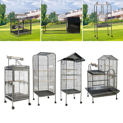 £68.95 • Buy Large Parrot Cage Metal Bird Cage For Lovebird Cockatoo Budgie Cockatoo Shelf