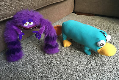 Disney Store Soft Toys Art Monsters Inc University Phineas & Ferb Perry Platypus • 12£