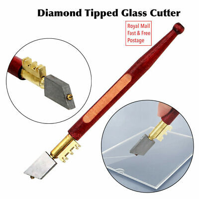 DIAMOND GLASS/TILE CUTTER Mirror Score Slice Cut Break Mark Precision Hand Tool • 3.38£