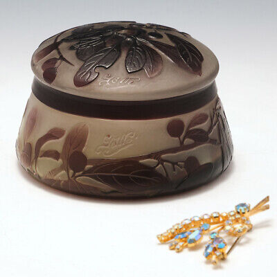 £705 • Buy Galle Cameo Glass Box And Cover C1922