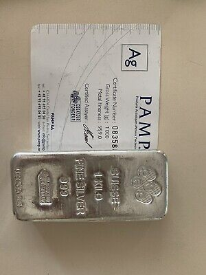 AU1125 • Buy Silver Bullion Bar 1kg