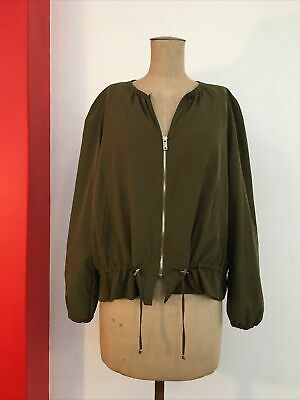 AU25 • Buy ZARA S Jacket 8-10 Blouson OLIVE Windbreaker LIGHTWEIGHT