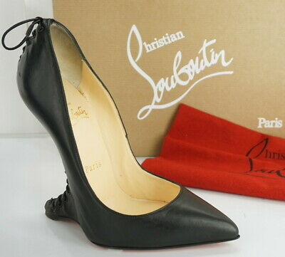 Christian Louboutin Conquilla Pump Size 36 Black Leather Curve Heel • 560.25£