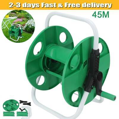 45m Garden Hose Reel Trolley Portable Water Pipe Free Standing Reinforced Tough  • 13.89£