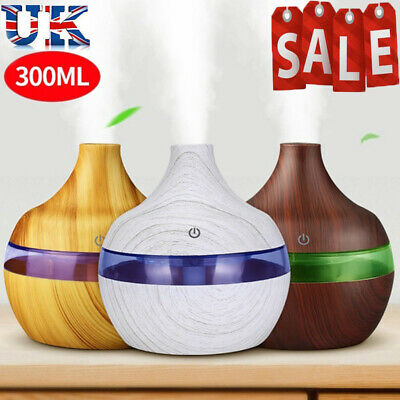 £11.99 • Buy LED Ultrasonic Humidifier Room Aroma Essential 7 Color Oil Diffuser Air Purifier