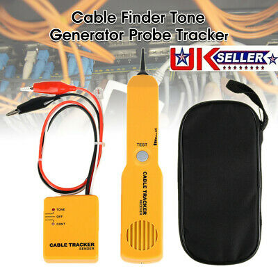 RJ11 Line Finder Cable Tracker Tester Toner Electric Network Wire Tracer Kit UK • 12.49£