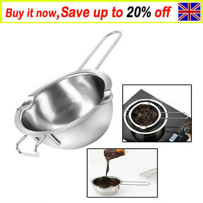 Stainless Steel Wax Melting Pot Double Boiler For DIY Wedding Scented Candle AF • 7.99£
