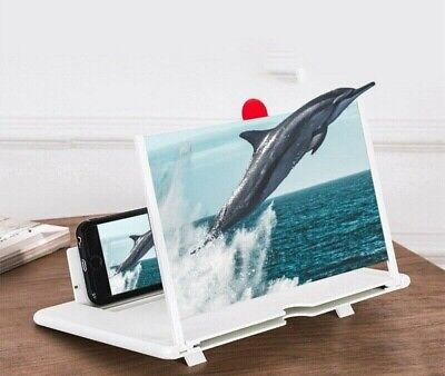 12  Inch Mobile Phone Screen Magnifier 3D HD Video Amplifier Stand New IPhone • 9.99£