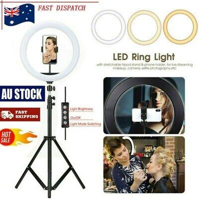 AU33.98 • Buy 12'' LED Selfie Ring Light With Tripod Stand Phone Holder Kit For Live Makeup AU