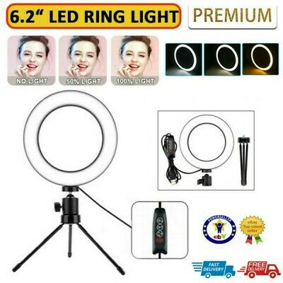 AU27.98 • Buy 6.2  LED Ring Light Dimmable Tripod Diffuser & Stand For Youtube Selfie Video AU