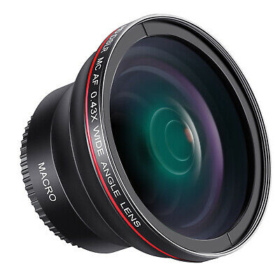 AU23.99 • Buy Neewer 55mm 0.43x HD Wide Angle Lens With Macro Portion For D3400 D5600 Sony A33