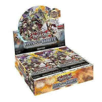YuGiOh Fists Of The Gadgets Sealed Booster Box Of 24 Packs | 1st Edition Cards • 2.20£