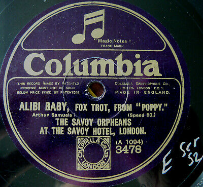 SAVOY ORPHEANS Alibi Baby/ What Do You Do Sunday, Mary? (E Scratch S2) • 3.99£