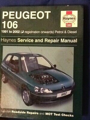 Haynes Peugeot 106 Service And Repair Manual 1991-2002 ( J Registration Onwards) • 4.50£