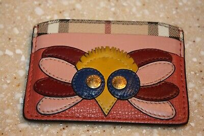 Burberry Izzy Beasts Owl Leather Card Case  • 93.52£