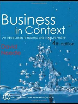 Business In Context, Very Good Condition Book, Needle, David, ISBN 1861529929 • 3.77£