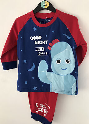 2-3 Years Cotton In The Night Garden Iggle Piggle Blue And Red Pyjamas • 9.99£